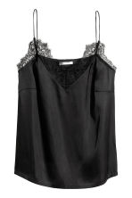 Satin top - Black - Ladies | H&M 2